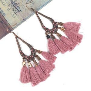 Vintage Boho Tassel Drop Earrings